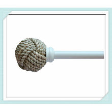 Rattan Twist Curtain Finials for 19mm curtain poles