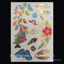 2016 New Disposable Waterproof Electroplating Metallic Temporary Tattoo Sticker