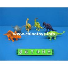 Novo item de plástico brinquedo animal conjunto dinossauro (867408)