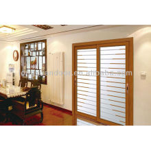 Puerta corredera de aluminio mediterráneo, Puertas corredizas de vidrio de diseño moderno