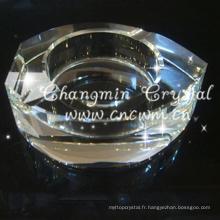 Vends bien nouveau type cendrier en cristal transparent transparent, cendrier en verre cendrier cristal
