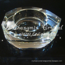 Sell well new type transparent clear crystal ashtray, crystal ashtray glass ashtray