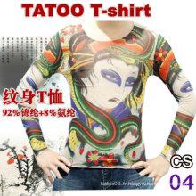 T-shirts en nylon de tatouage 2016 les plus populaires à vendre