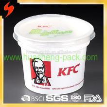 FDA Certificado Melhor Qualidade KFC 420 ml / 14 oz descartável PP recipiente de alimento de plástico