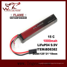 Flamme 9.9V-1000-15 c-LiFePO4-LFP-Stick-Batterie