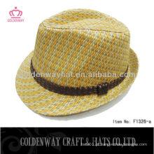 Grossista padrão de tamanho adulto Chapéu de papel Fedora de palha