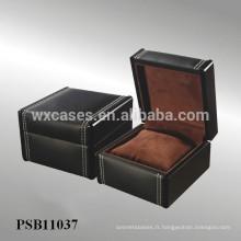 boîte de montre en cuir pour la seule montre de l'usine de la Chine