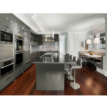 Modern High Gloss High Quality New Design Black Kitchen Cabinet for Project