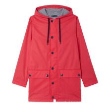 Revestimento impermeável para chuva de PU leve à moda feminina