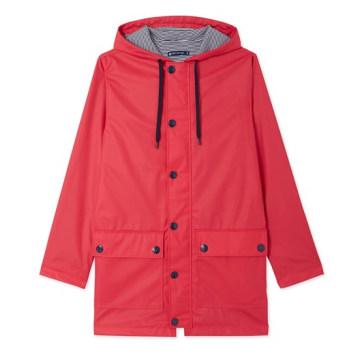 Women's Fashion Lightweight Waterproof PU Rain Jacket