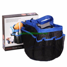 Portable Shower Caddy Tote with 8 Breathless Mesh Storage Pockets