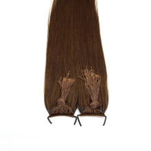 Wholesale Price Human Hair Virgin Brazilian Knot Thread Hair Curly Style 20inch Brown Color Remy Hair