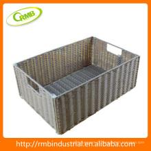 Panier en osier en forme carrée (RMB)