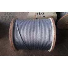 1 de 7 x 7 X 19 corda de fio de aço inoxidável de alta qualidade 7 X 19