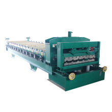 HT colored steel glazed roofing sheet making machine made in china