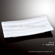 modern royal white stripe porcelain plate