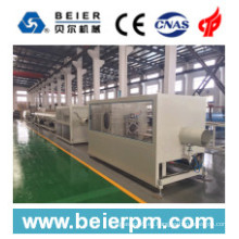 Cadena de producción plástica de la protuberancia de la máquina del tubo / del tubo del PVC 75-250m m