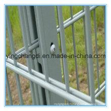 8/6 / 8mm a soudé la double barrière de barrière galvanisée par barrière enduite par poudre / double de grillage