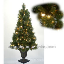 New outdoor lighted twig christmas trees