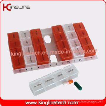 Nice Plastic Medicine Box with 28-Cases (KL-9021)