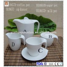 Louça de porcelana fina cerâmica chá vasilha de açúcar de café conjunto