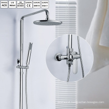 Brass bathroom chrome head rain shower set