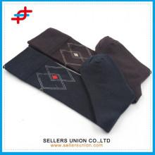 Benutzerdefinierte Logo Baumwolle Kalb Kompression schwarz braun Knie hohen Strumpf