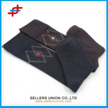 Logo personnalisé compression de veau de coton noir marron genou bas