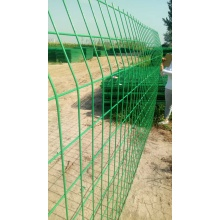 Green Coated Wire Fence Panels