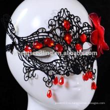 Венецианский стиль Сексуальная красная черная кружевная партия маска Китай Оптовая Маскарад маски