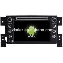 Glonass / GPS Android 4.4 espelho-link TPMS DVR carro navegador para Suzuki Grand Vitara com GPS / Bluetooth / TV / 3G
