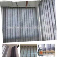 La tela de lino de alto grado barato enrolla la cortina vertical