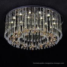 bedroom led ring chandelier glass art led light