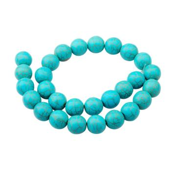14MM Loose natural Turquoise Crystal Round Beads for Making jewelry