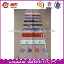 Patrón de hoja de impresión 100% tela de algodón para ropa de cama de algodón