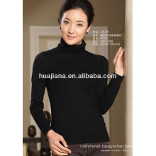 women's basic design worsted cashmere sweater
