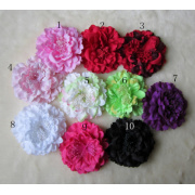 New Ladies Satin Peony Flower Hair Clip Hairpin Brooch Hair Flower