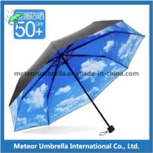 Paraguas plegable telescópico en la impresión de logotipo de Customed para la promoción