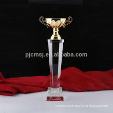 Sell well new type cheap custom crystal award trophy