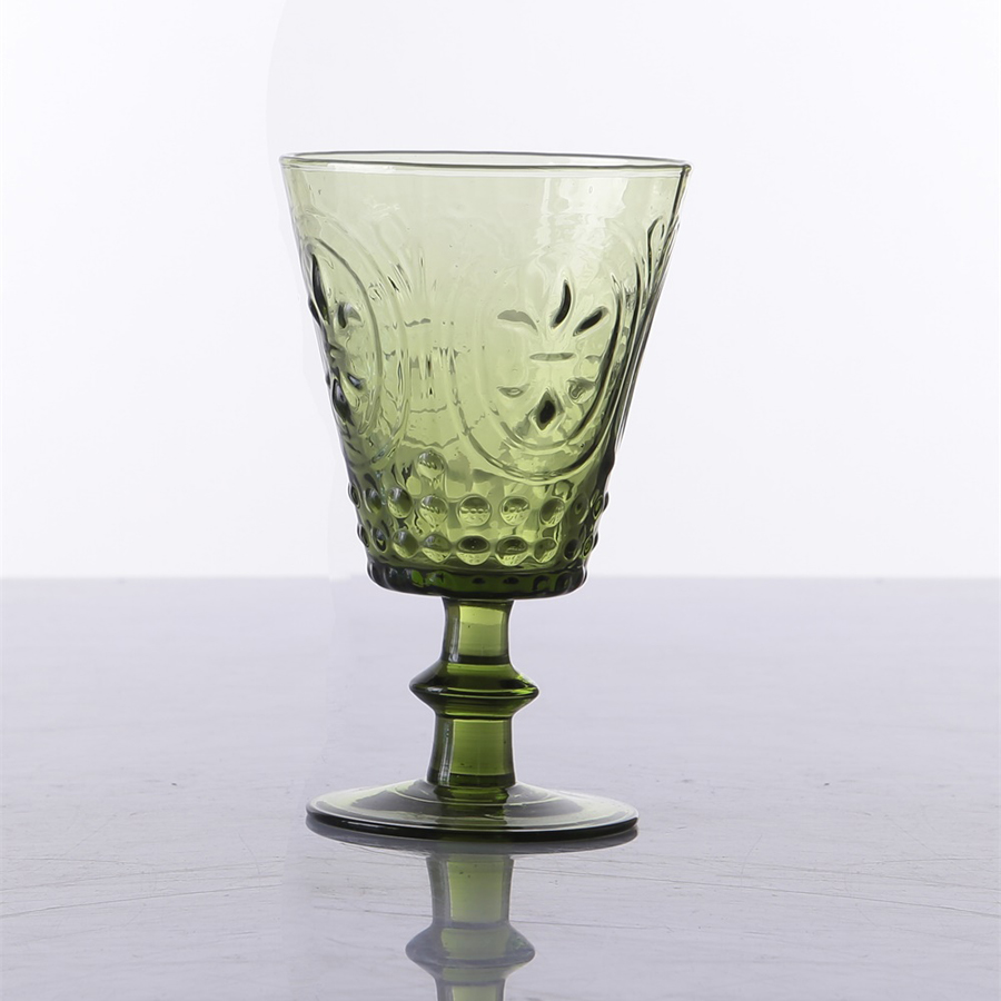 Br 9024hand Blown Solid Colored Water Glass Goblets
