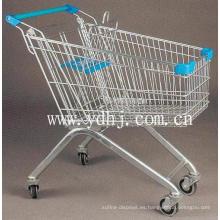 Carrito de compras caliente 60-240L de metal