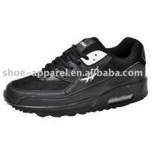 Black PU jogging sport Shoes