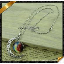 2015 Hot Sale Fashion Starry Sky Planet Silver Moon Colliers et pendentifs Vintage Jewelry Women (FN041)
