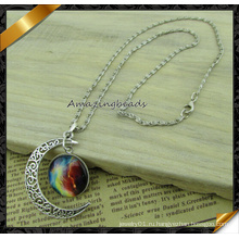 2015 Горячие продажи Мода Звездное небо планеты Серебряная Луна ожерелья и кулоны Vintage Jewelry Women (FN041)