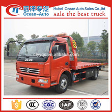 China Supplier 4000 kgs One Tow Two Flatbed Tow Truck For Sale
