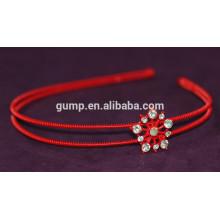 Corea Niñas Moda Rhinestone Niños Cabello Rojo Bnd Cristal Diadema