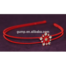 Korean Girls Fashion Rhinestone Children Red Hair Bnd Crystal headband