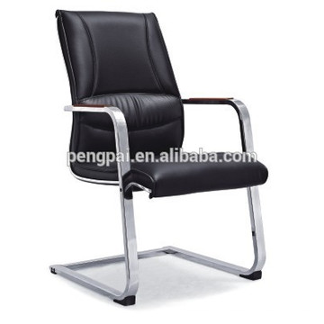 Black color office chair /simple model visitor chair/PU leather chair