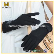 Ladies women winter woolen gloves with Fake fur lining