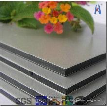 Panel compuesto de aluminio Kingaluco Superficie de espejo de plata